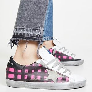 Golden Goose Superstar Sneakers Fluo Check/Ice 38